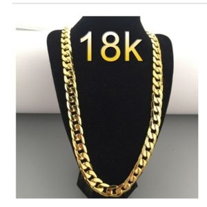 18k Gold Link Cuban Chain Necklace